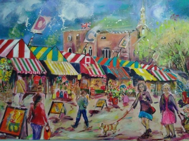 Norwich market by Lane