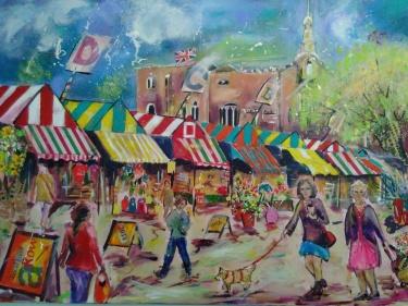 Norwich market by Lane