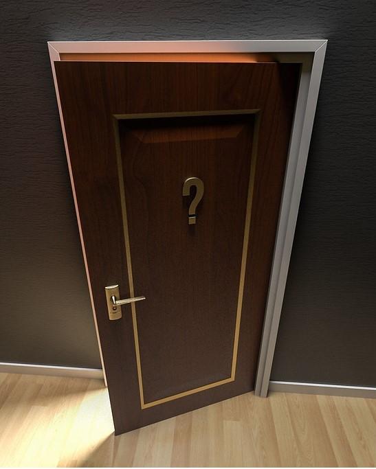 partly open door
