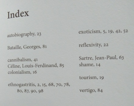 Writing Anthropology index