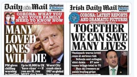 Irish Daily Mail 13.3.2020 save many lives